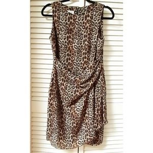 David Warren Animal print sleeveless dress 12P